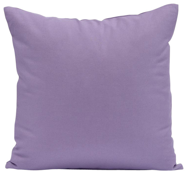 Solid Lavender Throw Pillow Cover Contemporary Decorative