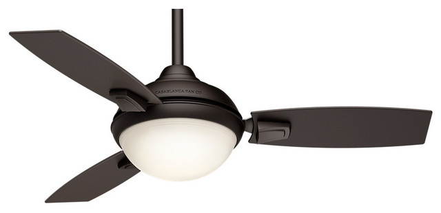 """Casablanca 44"""" Verse Maiden Bronze Ceiling Fan With Light And Remote."""