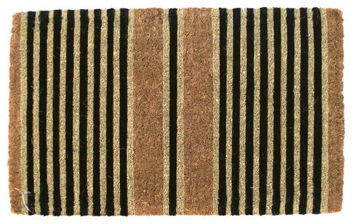 Ticking Stripes Handwoven Coconut Fiber Doormat