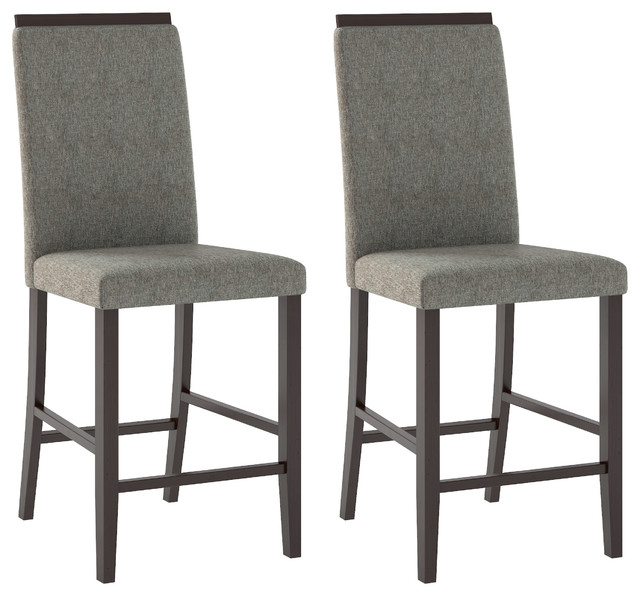 Bistro Dining Chairs, Pewter Gray Fabric, Set of 2 by CorLiving Distribution LLC