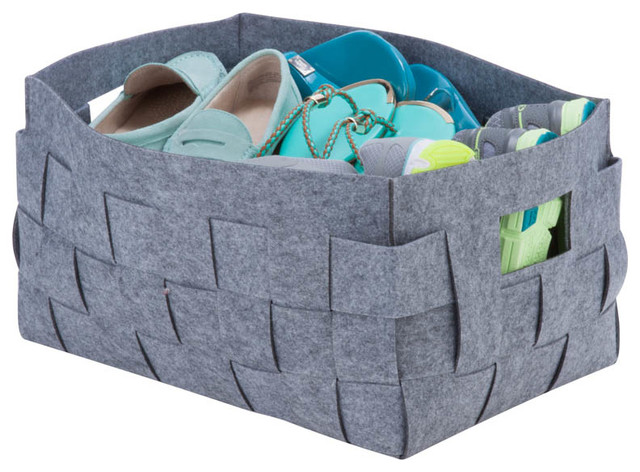 Beautiful Woven Felt Storage Bin, Medium Contemporary Storage Bins And Boxes