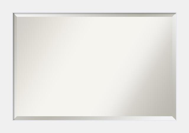 Bathroom Mirrors By Size bathroom mirror, corvino white - contemporary - bathroom mirrors