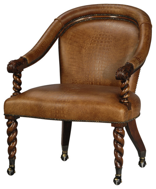 Victorian Curved Back Armchair Traditional Armchairs