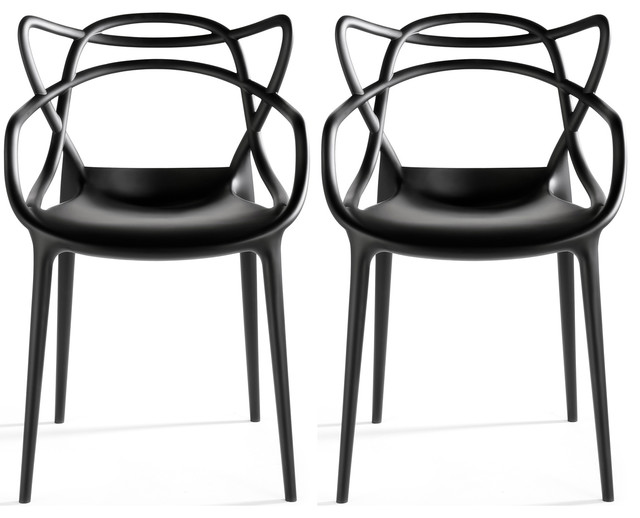 Stackable Molded Plastic Dining Chair With Arms Kitchen
