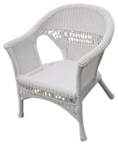 Hampton Bay White Wicker Chairs, Need The Bottom Roung Caps For Each L