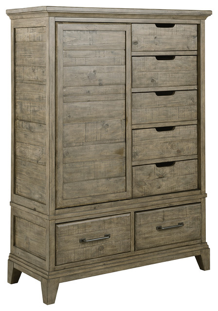 Kincaid Plank Road Wheeler Door Chest, Stone 706-250s.