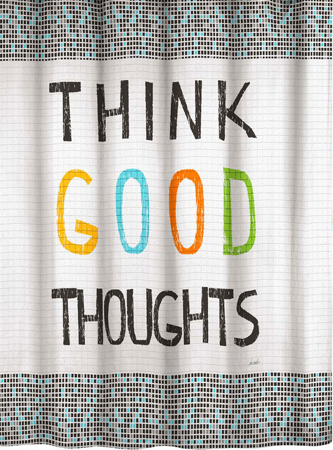 Curtains Ideas cityscape shower curtain : Think Good Thoughts 70