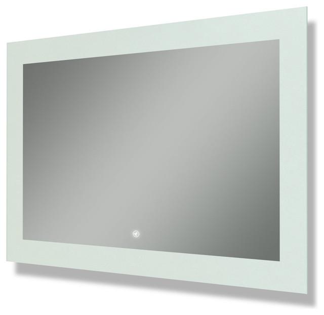 "Salerno Illuminated Rectangle Led Mirror, 48""x32""."