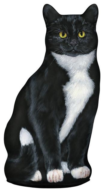 Tuxedo Cat Doorstop Eclectic Outdoor Decor By