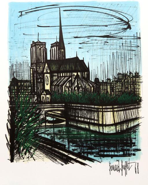 Outstanding Bernard Buffet Notre Dame Lithograph Download Free Architecture Designs Momecebritishbridgeorg