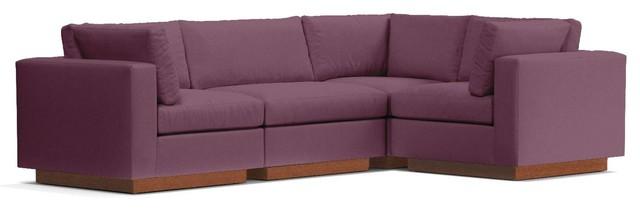Astonishing Taylor Plush 4 Piece Modular L Sectional Sofa Amethyst Machost Co Dining Chair Design Ideas Machostcouk
