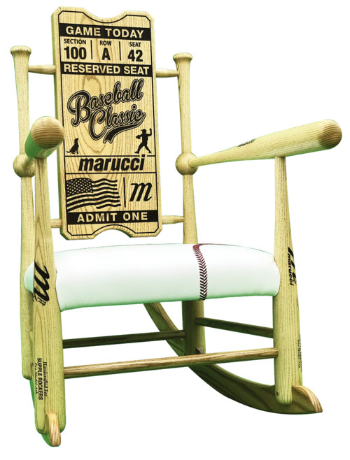 Baseball Bat Rocking Chair · More Info