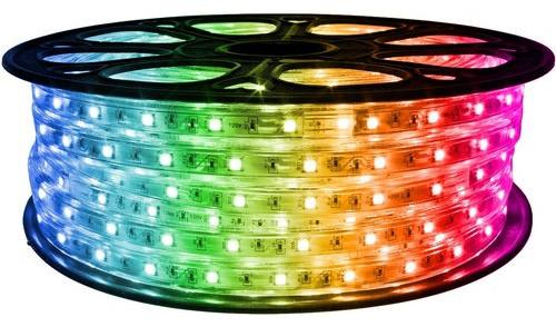 Brilliant 120 Volt SMD-5050 RGB Color Changing LED Strip Light, 65'
