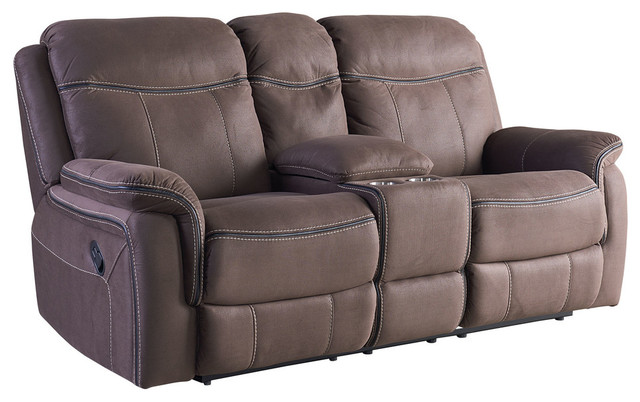 Champion Manual Motion Loveseat With Console.