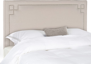 Safavieh Remington Taupe Headboard, Queen