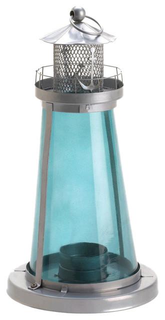 Blue Glass Lighthouse Lantern