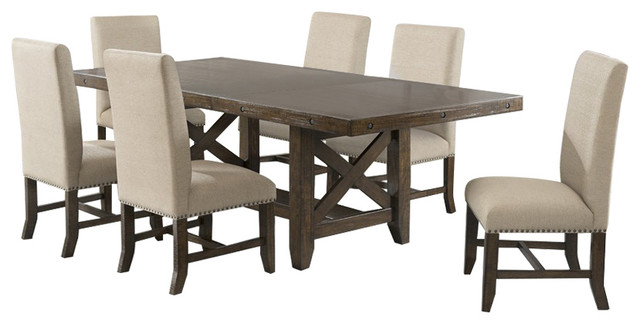 Nice Francis 7 Piece Table And Side Chairs Set Farmhouse Dining Sets