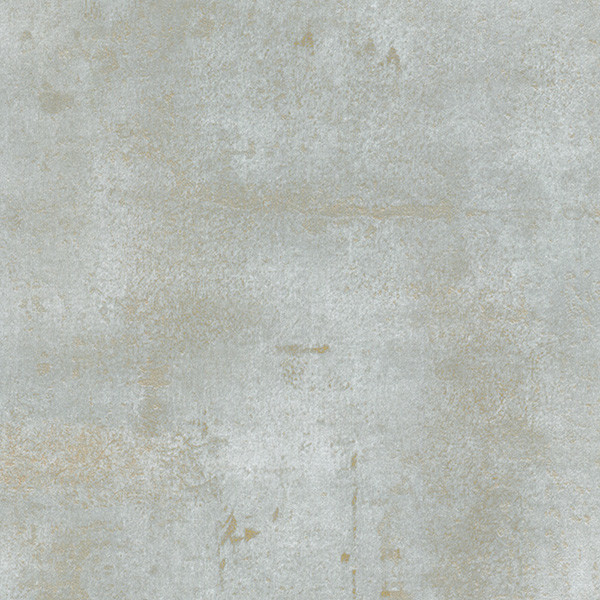 Weathered Stone Texture Wallpaper, Blue And Reflective Gold, Sample.