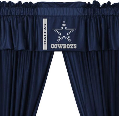 Nfl Dallas Cowboys 5 Piece Curtains And Valance Set