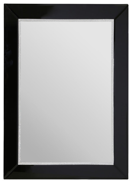 Diamant black bevelled frame mirror eclectic wall mirrors by premier housewares - Eclectic picture frame wall ...