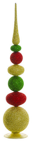 Silk Plants Direct Ball And Finial, Set Of 1.