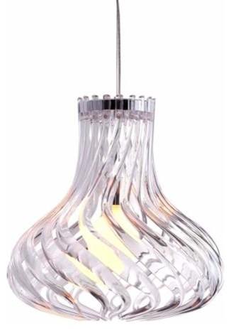 Zuo Modern Tsunami Ceiling Lamp Clear