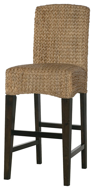 Hammary Hidden Treasures Woven Bar Stools With Back, Set of 2  traditional-bar-