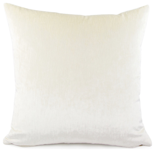 Decorative Cream Pillows : Chloe and Olive Cream Velvet Throw Pillow - Decorative Pillows Houzz