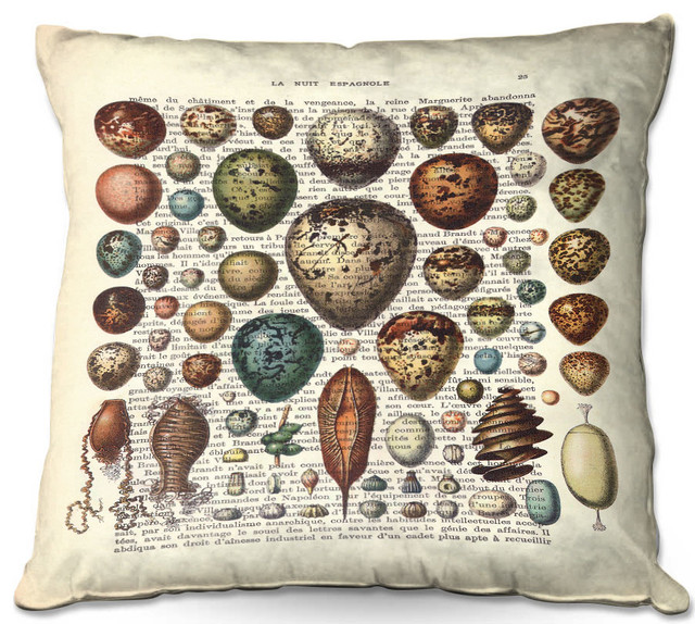 DiaNoche Outdoor Pillows By Madame Memento, Eggs