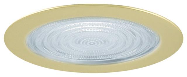 Fresnel Glass Restoration Bath Light: 5-Inch Line Voltage Shower Trim With Fresnel Lens Trim