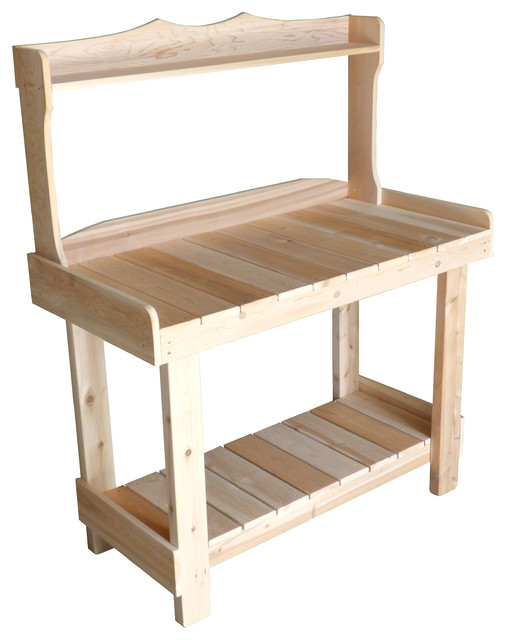 Incredible White Cedar Wooden Outdoor Workbench Ncnpc Chair Design For Home Ncnpcorg