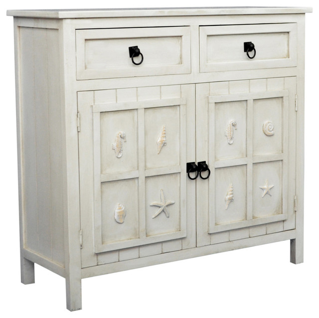 Coastal Cabinet Beach Style Accent Chests And Cabinets