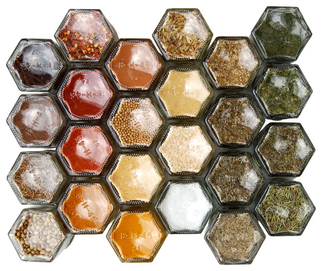 Everything Magnetic Spice Rack Modern Spice Jars And