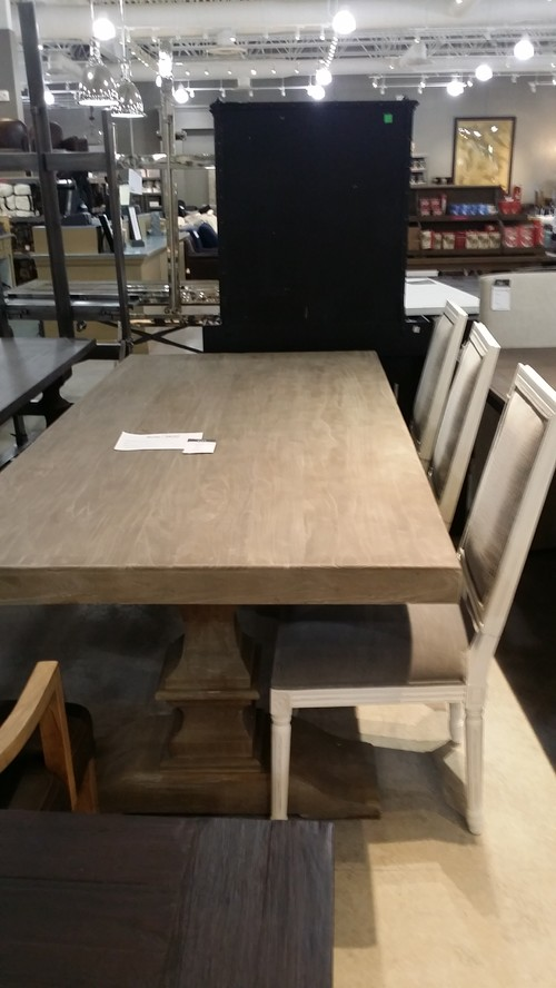 how to protect unfinished wood dining table, from Restoration Hardware