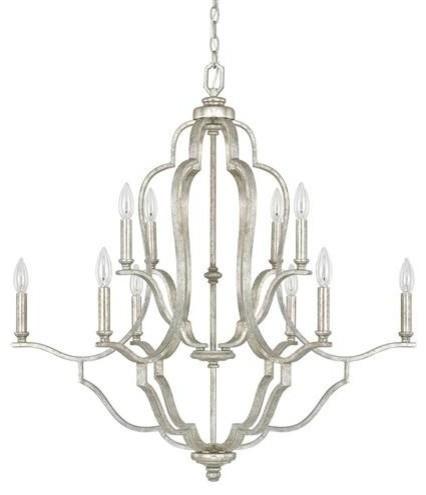 Capital Lighting Blair 10-LT Chandelier 4940AS-000 - Antique Silver