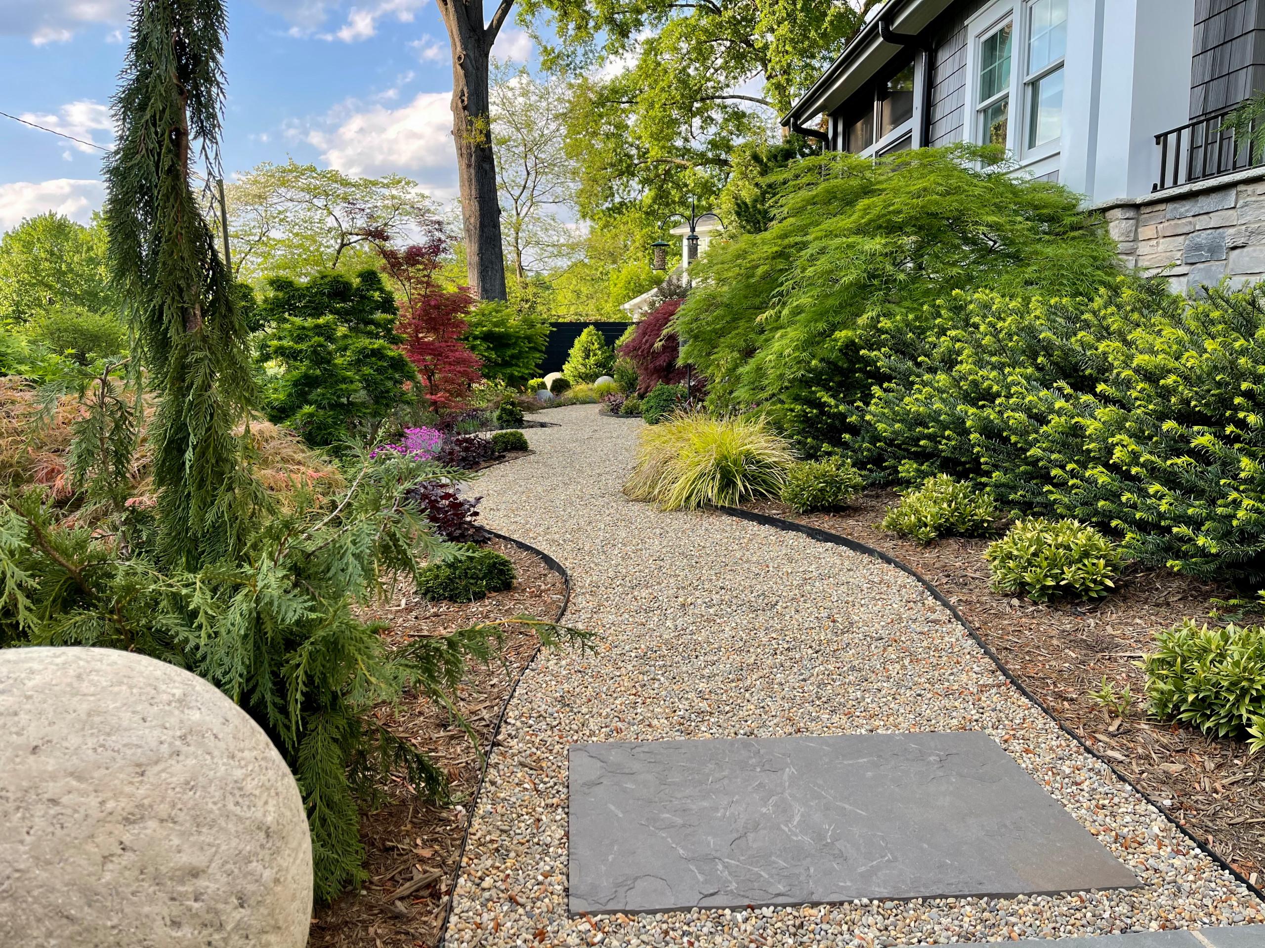 New front yard stroll garden.