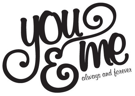 You Me Always And Forever Lovewall Quotes Decal Modern Wall