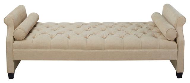 stylish bench champagne damask sofa buttons lounge chaise decorative diamante dp