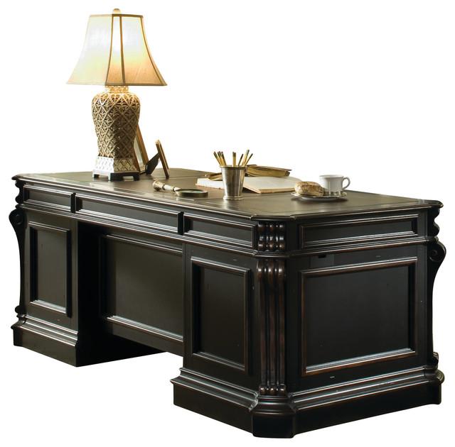 Hooker Furniture Telluride Wood Panel Executive Desk 48 Simple Solid Wood Home Office Furniture Set Decoration