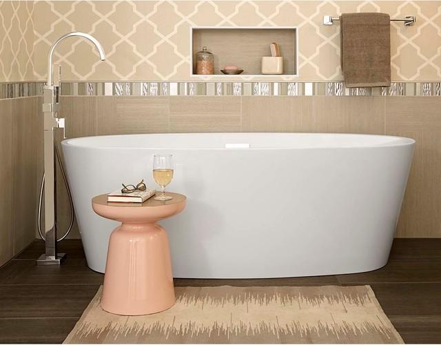 American Standard Coastal Serin Freestanding Tub, White
