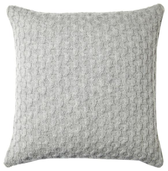 Decorative Pillow Texture : Theo Texture Pillow - Heather Grey - Scandinavian - Decorative Pillows - by AHAlife