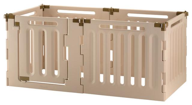 Convertible Indoor/Outdoor 6-Panel Pet Playpen - Contemporary ...