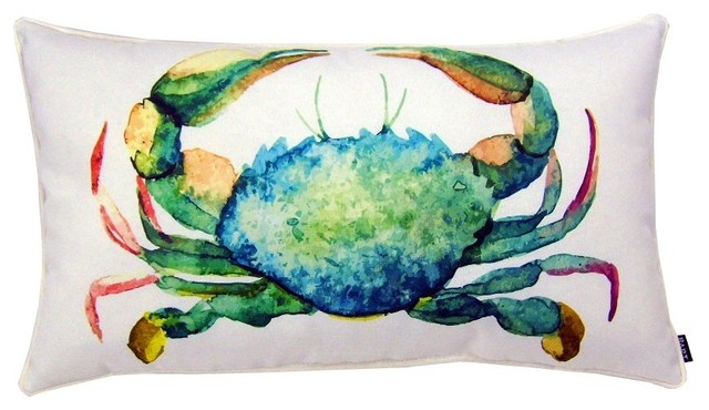 Crab Indoor Outdoor Pillow Beach Style Outdoor Cushions And