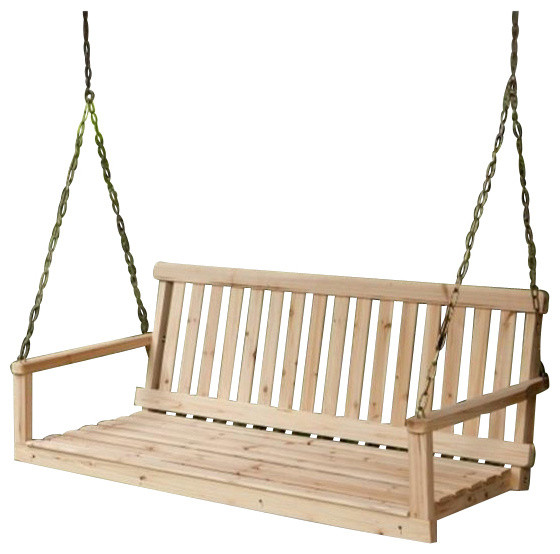 "Jack Post Corporation H, 24 49"" Wx21.75"" Dx17.5"" H Natural Porch Swing"