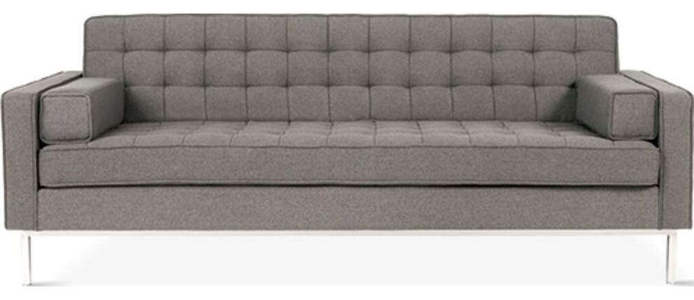Gus* Modern Spencer Sofa, Totem Storm, Stainless Steel