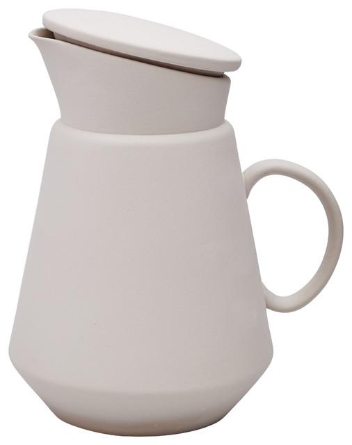 Ceramic Coffee Jug, Grey