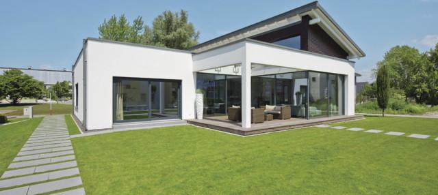 Fassade glas haus  Haus mit viel Glas