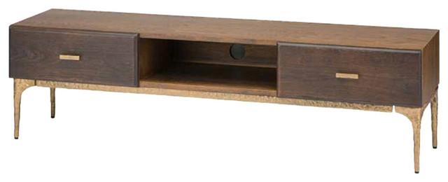Nuevo Living Kulu Seared Media Unit Cabinet, Bronze Cast Iron Rustic Media  Cabinets