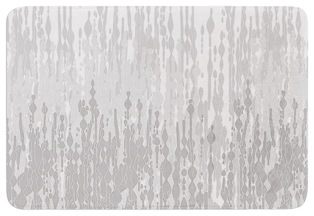 "Contemporary Bathroom Mats frederic levy-hadida ""drops"" gray memory foam bath mat, 17""x24"