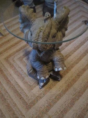 We Also Arenu0027t Exempt From Glass Top Tables With Wildlife Bases. Both The  Elephant And The Bear Are From The Same Seller. Elephant Is $70, And The  Bear Is ...